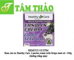Kem cừu úc Healthy Care -Lanolin cream with Grape seed oil -100g  (dưỡng trắng mịn)