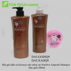 DX Kerasys nâu salon car Nutritive Ampoule Shampoo  Hàn quốc 600ml